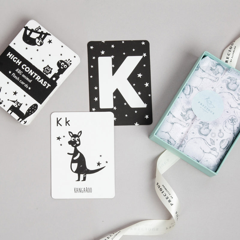 High Contrast ABC Animal Flash Cards - Ellybean Designs India