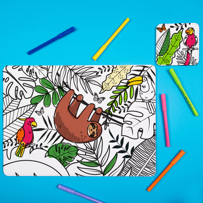 Born to Be Wild: Colour Me In Mat & Coaster - Ellybean Designs India