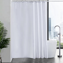 "Load image into Gallery viewer, Furlinic Shower Curtains Extra Large Bathroom Waterproof Fabric Washable Liner Mould Proof,Sets With 12 Plastic Rings-71"" x 71"",White."