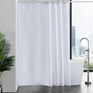 "Furlinic Shower Curtains Extra Large Bathroom Waterproof Fabric Washable Liner Mould Proof,Sets With 12 Plastic Rings-71"" x 71"",White."