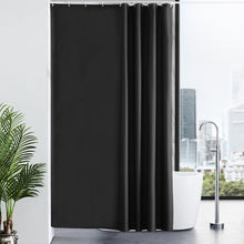 Load image into Gallery viewer, Furlinic Solid Black Shower Curtains,Mildew Resistant Waterproof 180 x 180cm,Including 12 PCS Plastic Hooks.