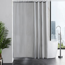 "Load image into Gallery viewer, Furlinic Shower Curtains Extra Large Bathroom Waterproof Fabric Washable Liner Mould Proof,Sets With 12 Plastic Rings-71"" x 71"",Grey."