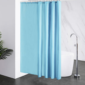 "Furlinic Extra Wide Light sky Fabric Shower Curtain,Smooth Dustproof Material Curtains for Shower with 16 Plastic Hooks-96"" x 78""."
