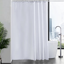 "Load image into Gallery viewer, Furlinic Shower Curtains Extra Large Bathroom Waterproof Fabric Washable Liner Mould Proof,Sets With 12 Plastic Rings-72"" x 78"",White."