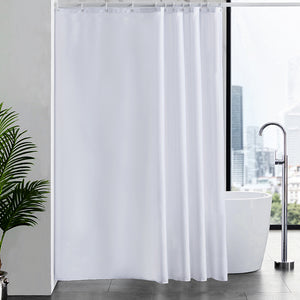 "Furlinic Shower Curtains Extra Large Bathroom Waterproof Fabric Washable Liner Mould Proof,Sets With 12 Plastic Rings-72"" x 78"",White."