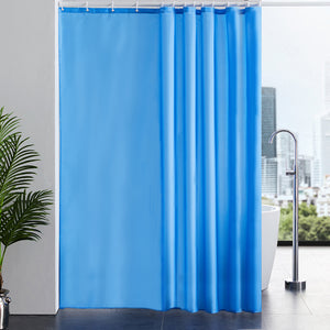 Furlinic Extra Long Shower Curtain with Hooks,100% Polyester Bathroom Shower Curtain Waterproof(Blue Sky),200 x 240cm(78 x 94 Inch).