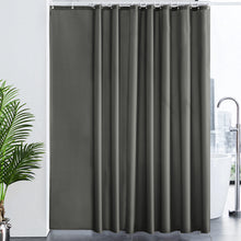 Load image into Gallery viewer, Furlinic Extra Wide Shower Curtain with Hooks,100% Polyester Bathroom Shower Curtain Waterproof(Dark Grey),244 x 200cm(96 x 78 Inch).