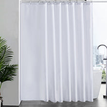 Load image into Gallery viewer, Furlinic Shower Curtains Extra Wide Bathroom Waterproof Fabric Washable Liner Mould Proof,Sets With 16 PCS Plastic Hooks W96 x H78(244 x 200cm)-White.