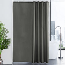 Load image into Gallery viewer, Furlinic Shower Curtain With Hooks,Extra Long 100% Polyester Bathroom Shower Curtains Waterproof(Dark Grey),180 x 200cm(72 x 78 Inch).