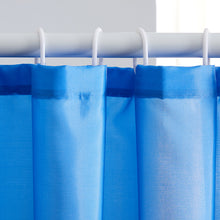 Load image into Gallery viewer, Furlinic Blue Shower Curtains,180 x 210cm Extra Long Bathroom Waterproof Fabric Washable Liner Mould Proof,Sets With 12 PCS Plastic Hooks.