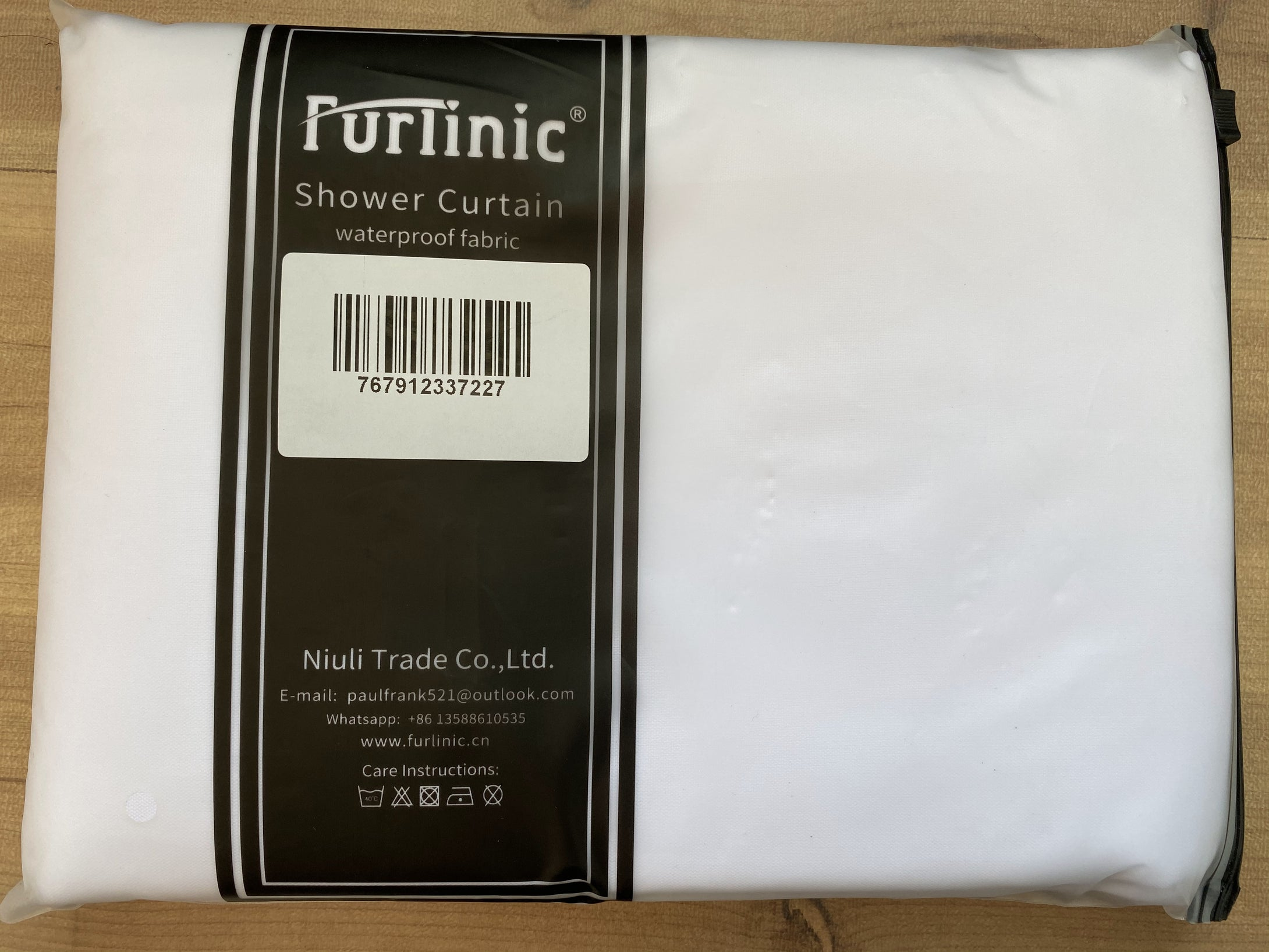 Furlinic White Fabric Shower Curtain Extra Long,Smooth Dustproof Material Curtains for Shower with 12 Plastic Hooks-78