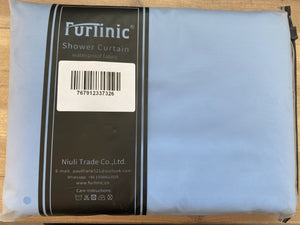 "Furlinic 71"" x 71"" Extra Large Shower Curtain Liner,Duty Waterproof Fabric Curtains for Shower with 12 Plastic Hooks-Blue."