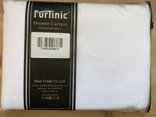 Load image into Gallery viewer, Furlinic Extra Long Hookless Shower Curtain, White Fabric Curtains Anti Mould and Waterproof for Wet Room with Plastic Buckles-80x183cm .