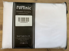 Load image into Gallery viewer, Furlinic Anti Mould Hookless Shower Curtain White Fabric, Weighted Curtains Liner Waterproof for Hotel and Family-47x72 Inch.