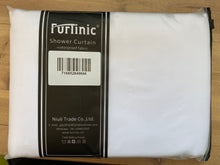 Load image into Gallery viewer, Furlinic Hookless Shower Curtain White, Weighted Curtains Made of Anti Mould and Waterproof Fabric for Wetroom-71x72 Inch.