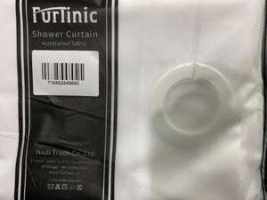 Furlinic White Shower Curtain Hookless with Extra Long Heavy Fabric,Washable Waterproof Curtains Nontoxic Eco Polyester for Hotel Family-83x71 Inch.