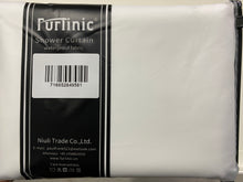 Load image into Gallery viewer, Furlinic White Waffle Shower Curtain Long Heavy Fabric,Washable Waterproof Curtains with 12 Rustproof Grommets for Hotel or Family-78x71 Inch.