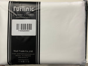Furlinic White Waffle Shower Curtain Long Heavy Fabric,Washable Waterproof Curtains with 12 Rustproof Grommets for Hotel or Family-78x71 Inch.