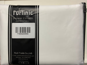 Furlinic Waffle Shower Curtain Long White Fabric,Heavy Opaque Curtains Liner Washable Waterproof for Stall or Bathtub,82x71 Inch.
