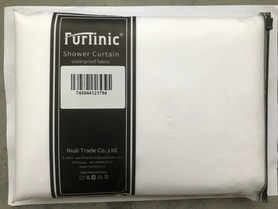 Furlinic White Shower Curtains,Mould Proof and Mildew Resistant Extra Long Shower Curtain Liner,180 x 210cm Drop(72 x 84 Inch),100% Polyester.