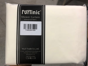 "Furlinic Cream Shower Curtains Standard Bathroom Waterproof Fabric Washable Liner Mould Proof,Sets With 12 Plastic Rings-71"" x 71""."