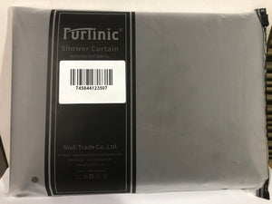 Furlinic Shower Curtain with Hooks,Extra Long 100% Polyester Bathroom Shower Curtains Waterproof(Dark Grey),180 x 180cm(71 x 71 Inch).