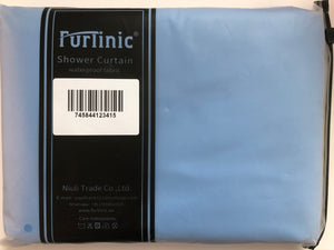 Furlinic Shower Curtain,Solid Blue Mould and Mildew Resistant 180 x 180 cm (71 x 71 Inch) | 100% Polyester.