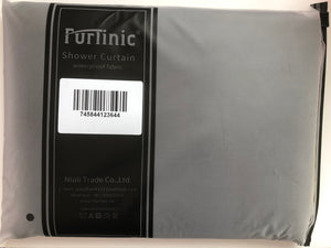 Furlinic Shower Curtain With Hooks,Extra Long 100% Polyester Bathroom Shower Curtains Waterproof(Dark Grey),180 x 200cm(72 x 78 Inch).