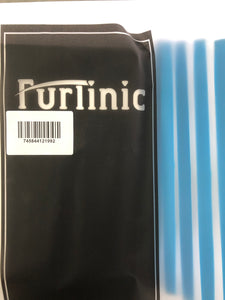 Furlinic Window Squeegees,Rubber Glass Wiper Blades For Bath, Kitchen And Car-Blue Handle 5P.