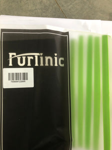 Furlinic Window Squeegees,Rubber Glass Wiper Blades For Bath, Kitchen And Car-Green Handle 5P.