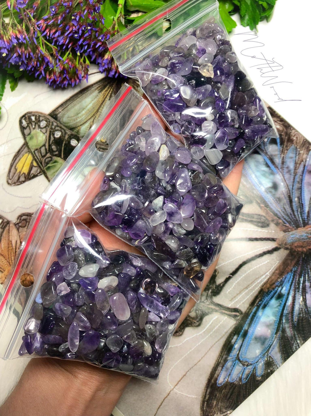 Amethyst Crystal Mini Tumbles Pack 100g