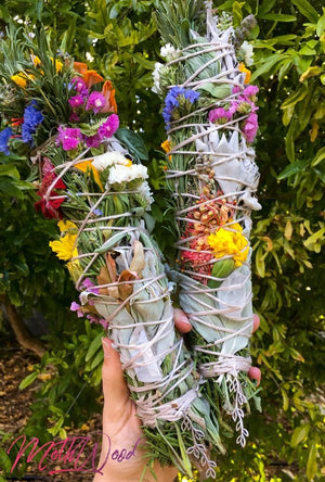 Ritual Handmade Herb, Crystal & Flower Smudges
