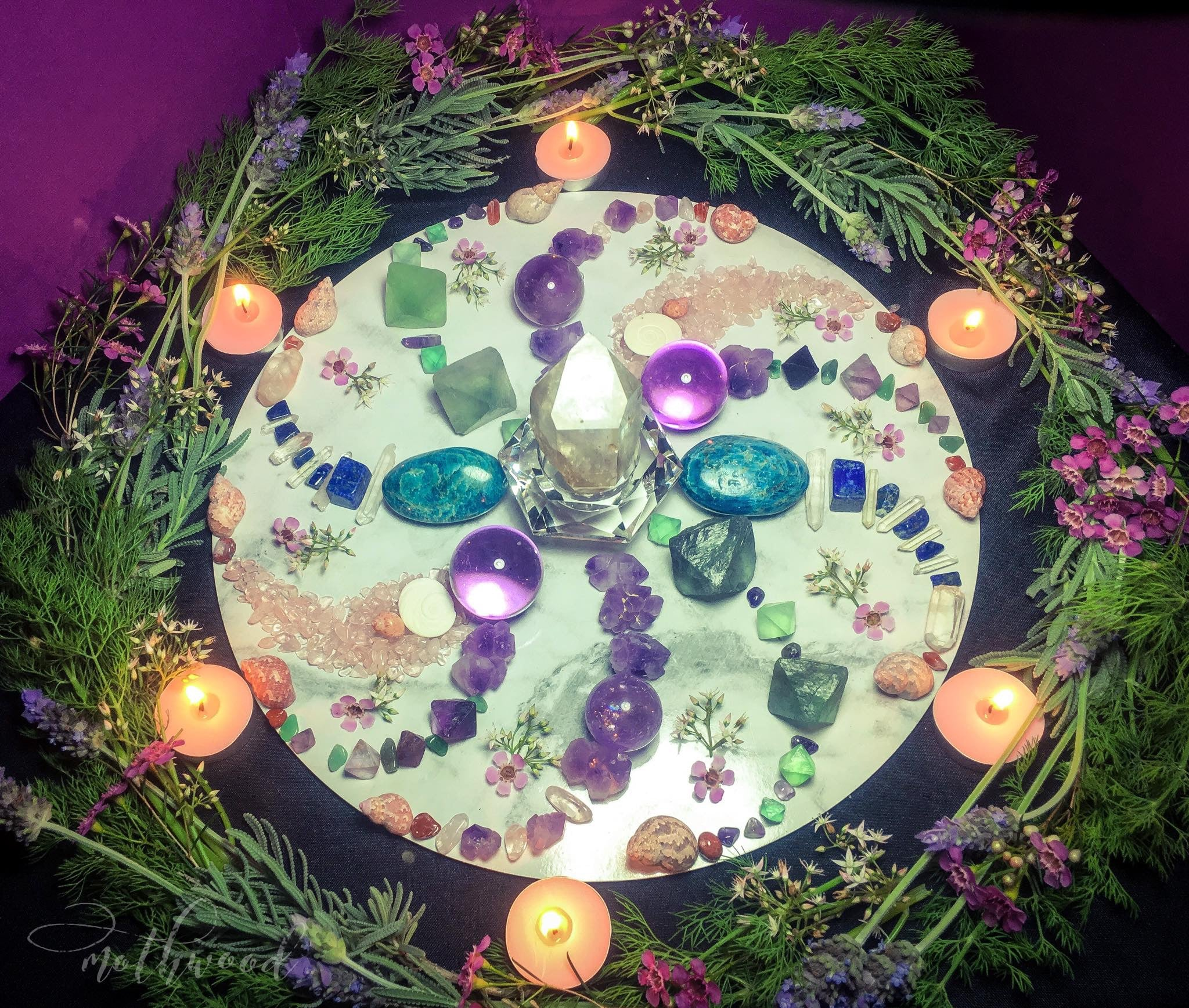 Intuitively Custom Made Crystal Grid Art