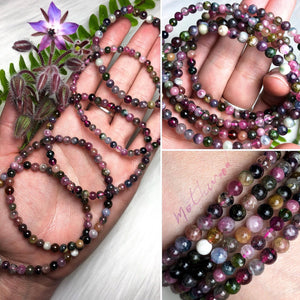Mixed Tourmaline Crystal Beaded Bracelet