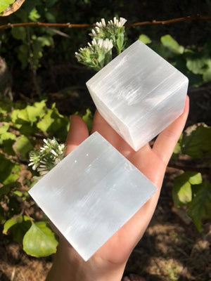 Selenite Crystal Cube