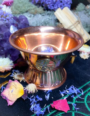 Pentacle Copper Ritual Witchy Bowl