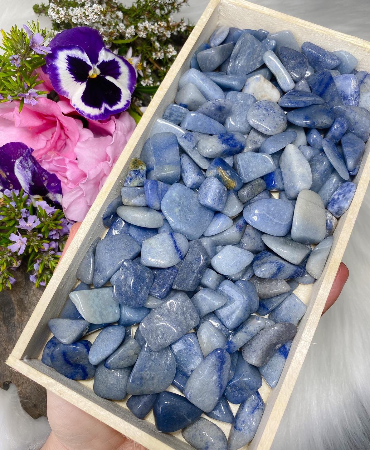 Blue Adventurine Chip Tumblestones Bulk Buy