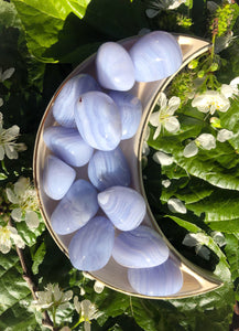 Blue Lace Chalcedony Crystal Tumblestones