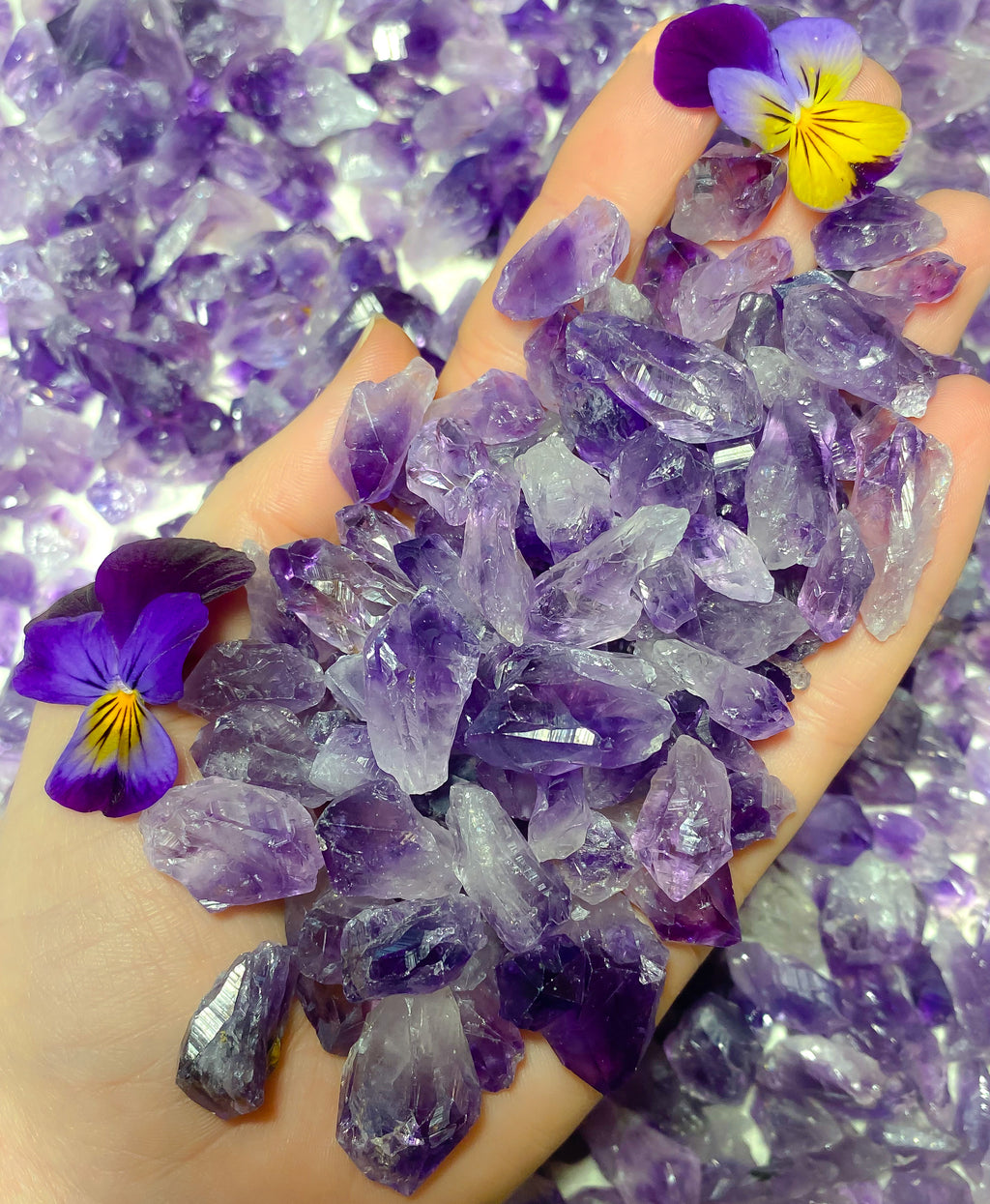 Amethyst Crystal Points Pack 100g