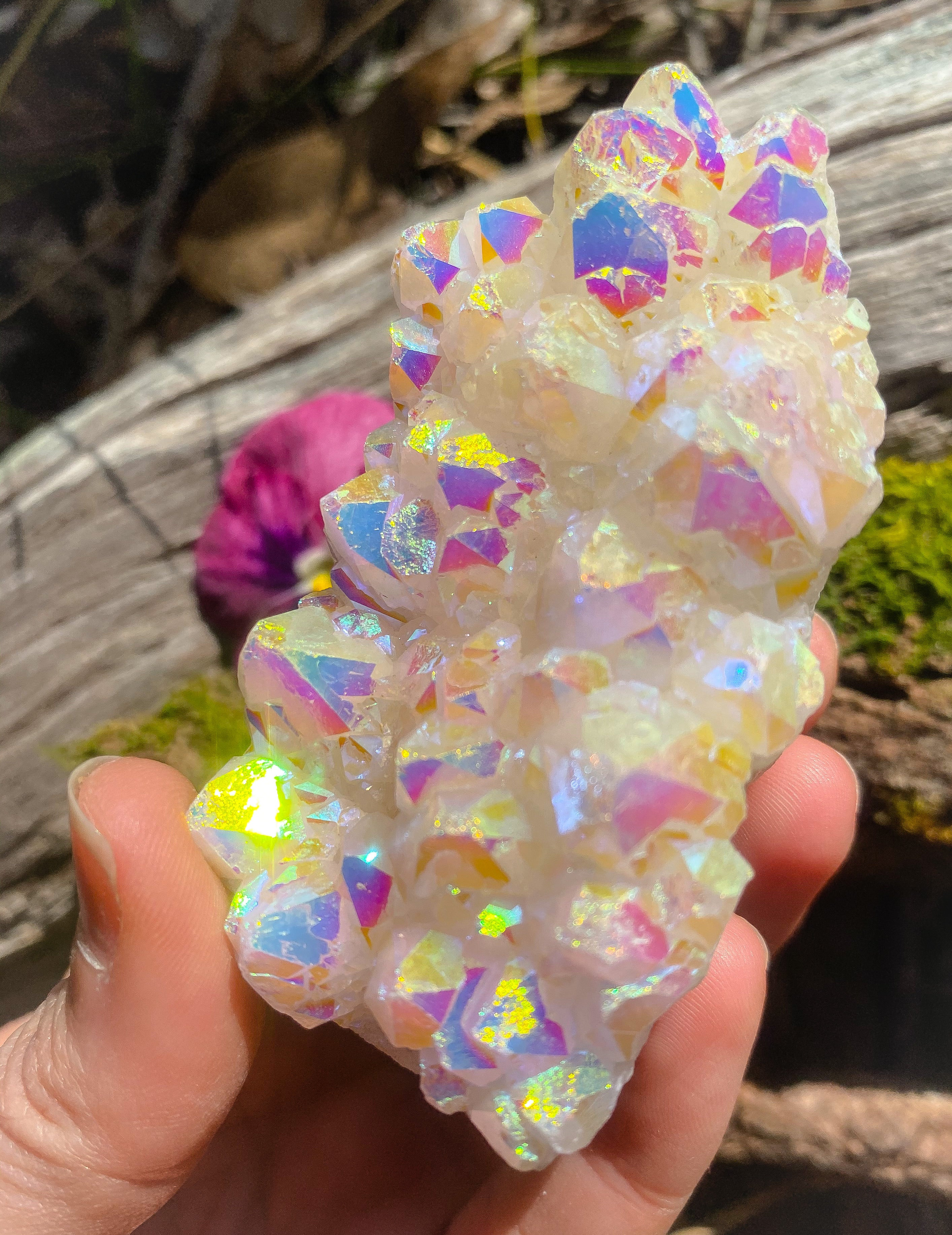 Angel Aura Quartz Crystal (A)