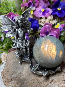 Fairy Pewter Crystal Stand (A)