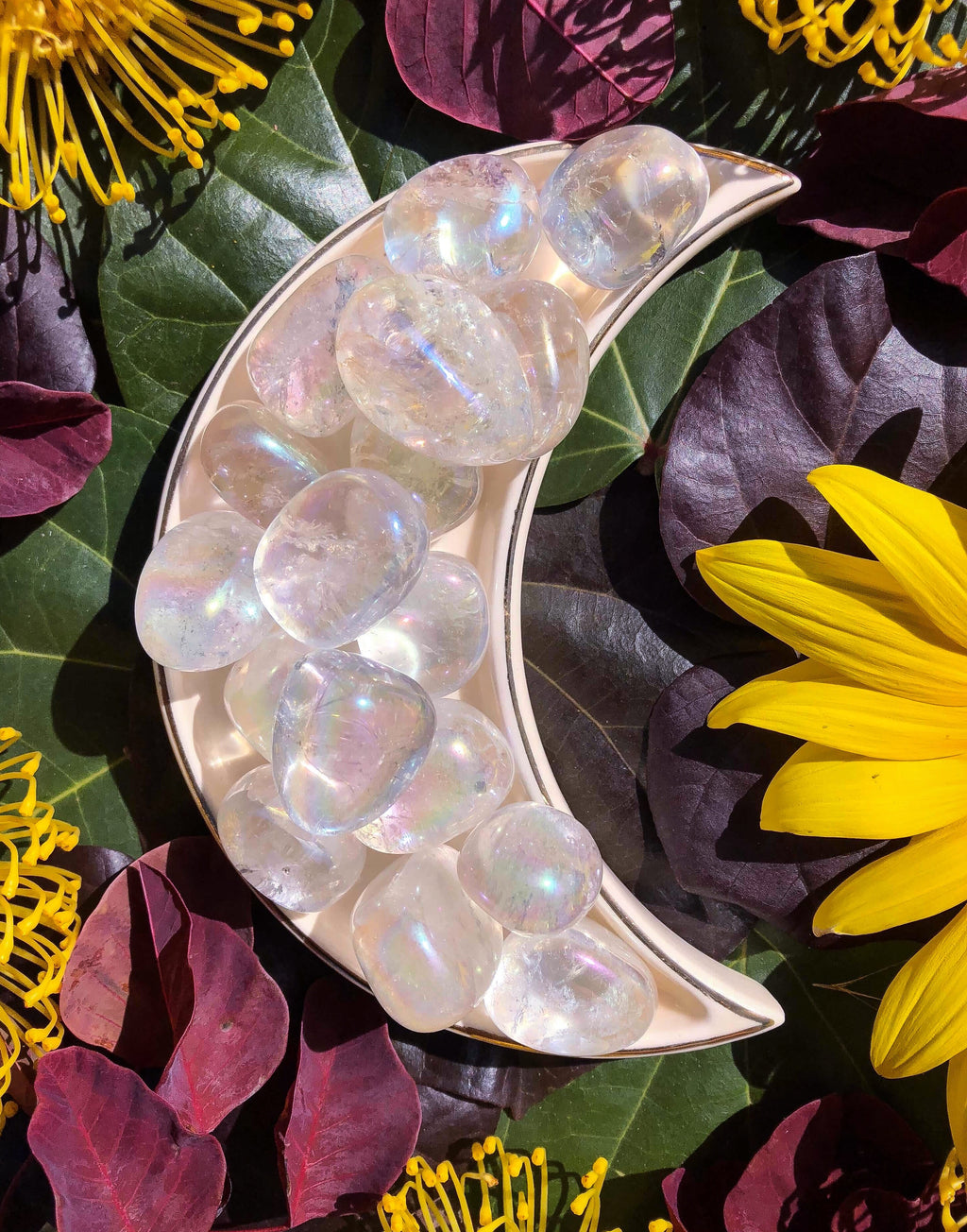 Angel Aura Quartz Crystal Tumblestones