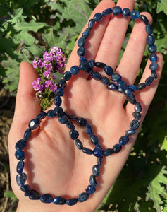 Blue Kyanite gemstone crystal bracelet