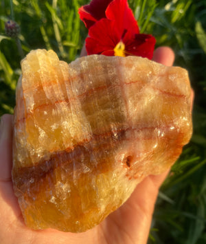 Orange Sunset Calcite Crystal