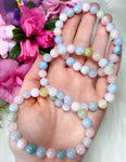 Morganite Aquamarine Crystal Bracelets