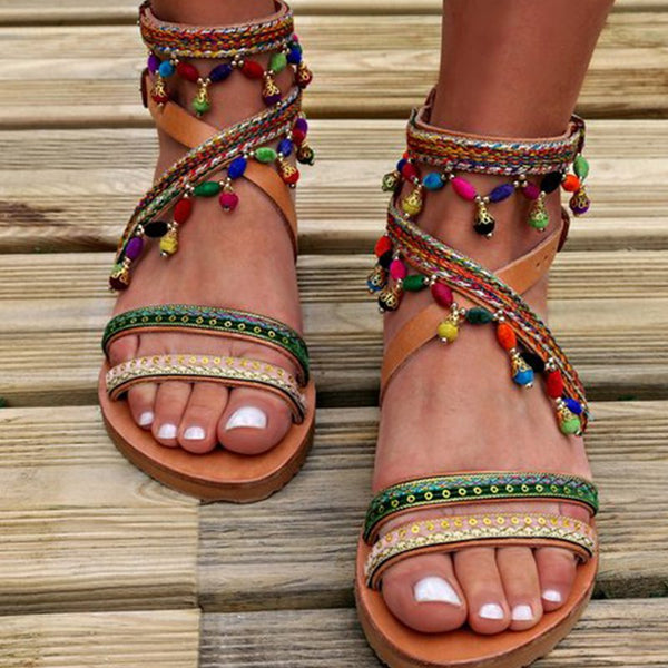 Multicolor Summer Holiday Boho Sandals