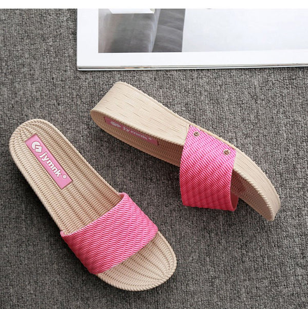 Casual Pvc Flat Heel Slippers