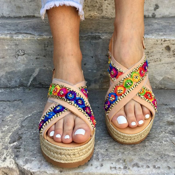 Holiday Multi-color Platform Sandals