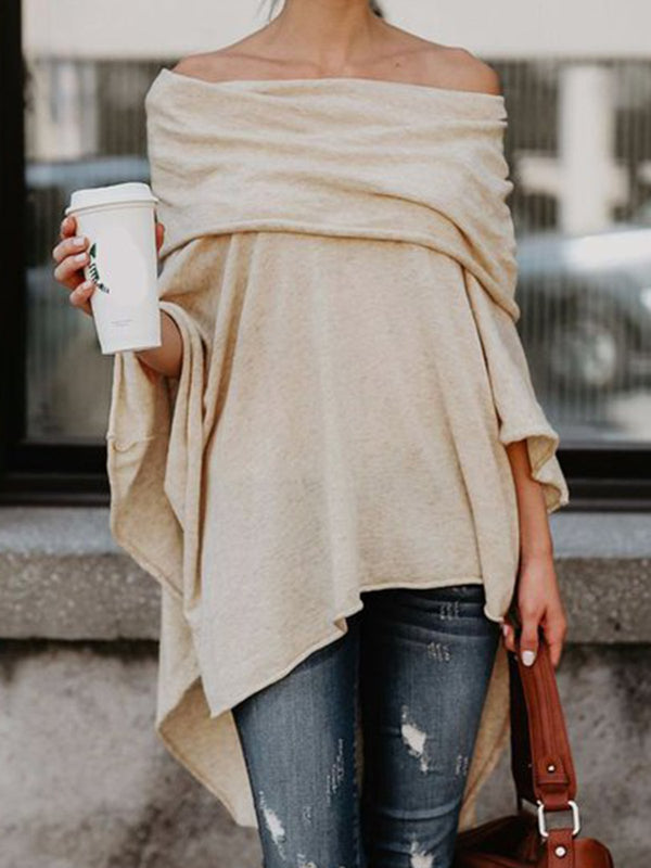 Solid Casual Off Shoulder Top