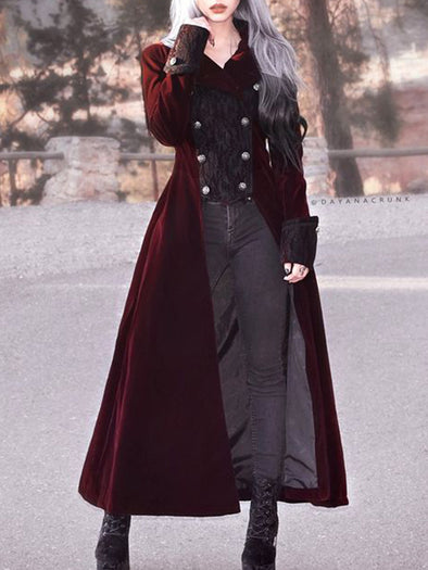 Medieval cloak plus size Cotton Vintage Outerwear